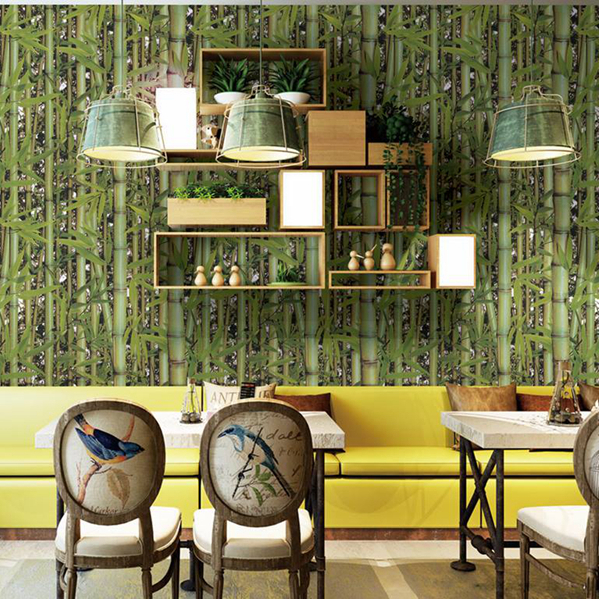 Asian wallpaper market popular design-bamboo wallpaper